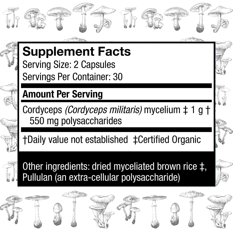 HOST DEFENSE Cordyceps Capsules - 60 Vcaps