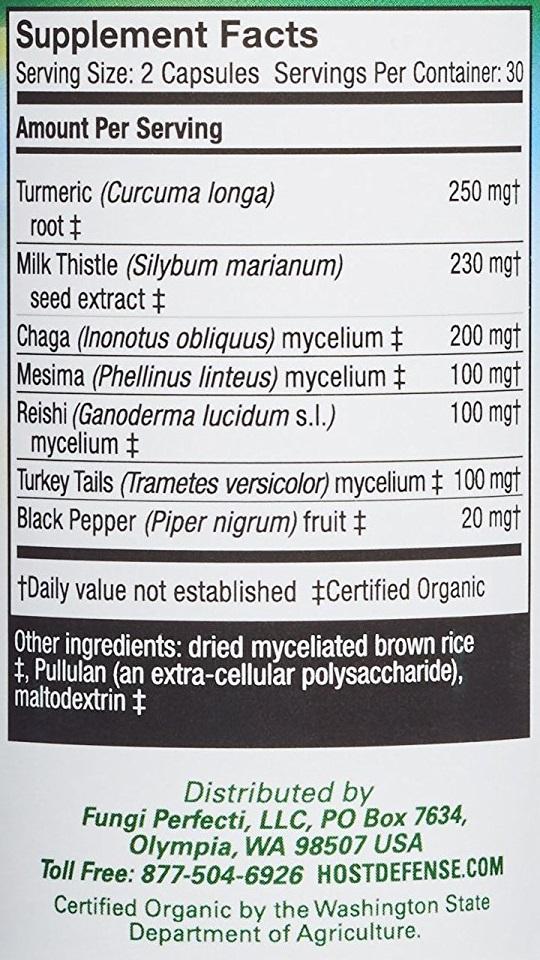 HOST DEFENSE MycoBotanicals Liver - 60 Vcaps