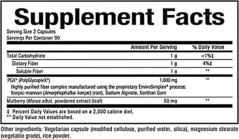 Natural Factors WellBetX PGX Plus Mulberry 180 Vcaps